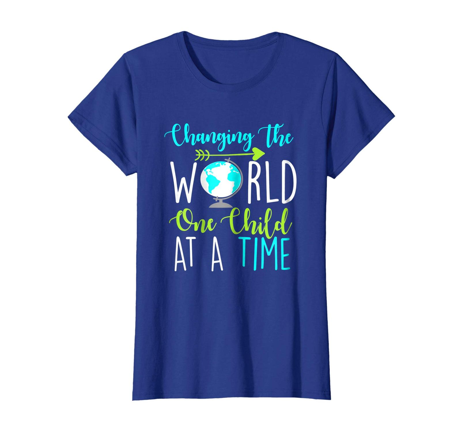 New Style - Changing The World One Child At A Time Funny Teacher Tshirt Wowen