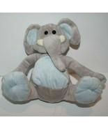 "6"" Elephant Small Plush Soft Toy Sitting Baby Light Blue Gray Stuffed An... - $22.22"