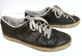 Polo RALPH LAUREN Men's Leather Sneakers Shoes Distressed Vintage Brown 13 D - $29.94