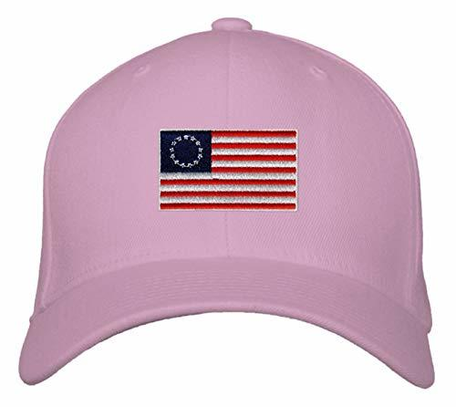 Betsy Ross Hat - Adjustable Pink Womens Cap USA Flag