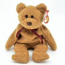 1993/1996 Ty Beanie Baby Curly the Bear Retired Beanbag Plush Toy Doll - £4.31 GBP