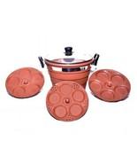 EARTHEN COOKWARES IDLI COOKER AYURVEDIC & ORGANIC clay Large size  - $175.00
