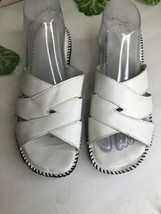 Naturalizer Women's White Stitched Summer Sandals Shoes Size 9.5  - $24.74