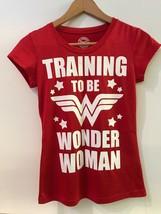DC Comics Wonder Woman Training To Be Cap Sleeve Top Juniors Red T-Shirt S 3/5 - $14.95
