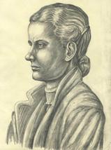 E. Gaston Longney - Mid 20th Century Graphite Drawing, Woman in Profile - $23.80