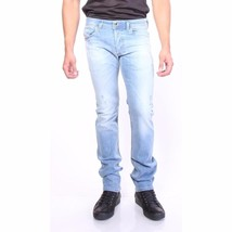 Diesel Men's Premium Regular Slim Straight-Leg Jeans Safado 0666R_STRETCH 32x32