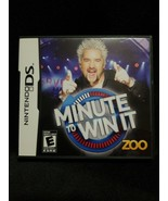 Minute to Win It (Nintendo DS, 2010)- COMPLETE + CASE+MANUAL+CLEAN & TESTED - $9.99