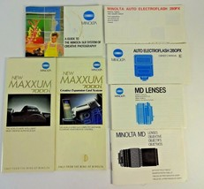 VTG Minolta camera manual guide lot SLR 280PX MD Lens 7000I Brochure Boo... - $12.24