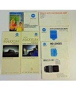 VTG Minolta camera manual guide lot SLR 280PX MD Lens 7000I Brochure Boo... - $12.24