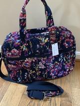 Vera Bradley Midnight Wildflower Medium Traveler Bag Weekender Carry On Tote Nwt - $64.30
