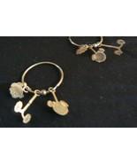 Swee Pair Sterling Silver 3 pc Teddy Bear Pierced Hoop Dangle Earrings - $19.79