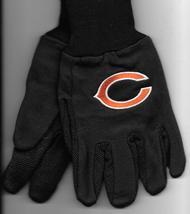 Chicago Bears team Sport Utility Gloves black garden NFL Football H18 - $17.77
