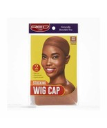 Red by Kiss Stocking Wig Cap Ultra Stretch One Size 2Pcs/Pk Natural Brow... - $1.19