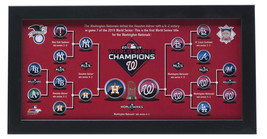Washington Nationals Framed 7x13 2019 MLB World Series Bracket Photo - $59.39