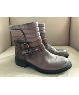 EARTH PEPPERIDGE STORM GREY LEATHER ANKLE BOOTS SIZE 8B - $46.74