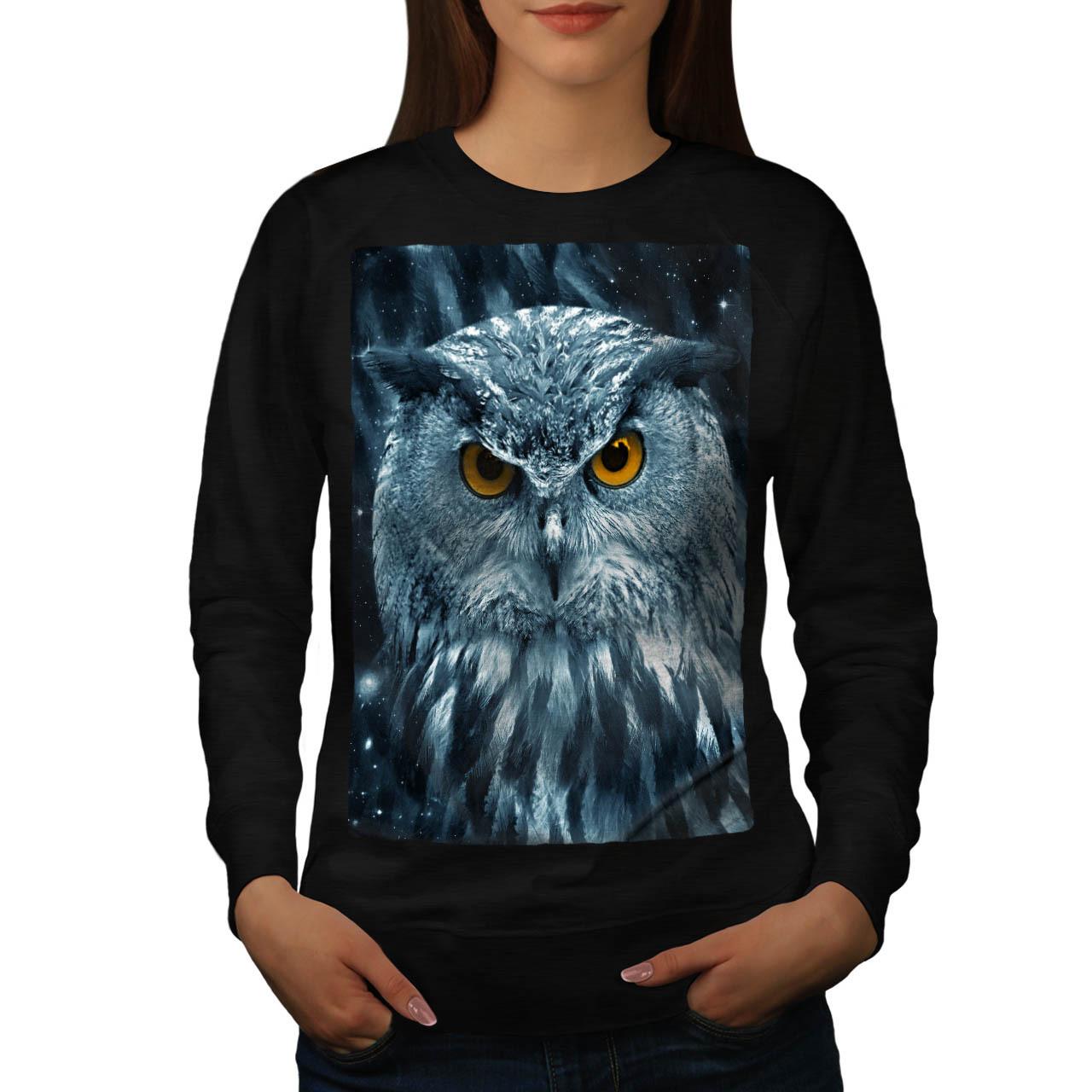 Wild Looking Owl Jumper Mother Nature Women Sweatshirt - $18.99