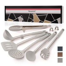 REMIHOF Kitchen Utensil Set - 6 Piece Nonstick Silicone and Stainless St... - £26.69 GBP