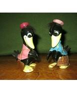 Vintage Norquest Furland Heckle & Jeckle Crow/Magpie Salt & Pepper Shake... - $24.95