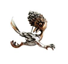 Tortolani Copper & Silver Tone Roadrunner Brooch Pin - $22.00