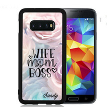Personalized Case Fits Samsung Galaxy S10 S9 S8 S7 Wife Mom Boss Flowers - $13.98