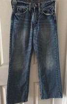 American Eagle men's Distressed denim blue jeans size 26/28 Boot Cut  - $12.16