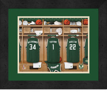 Personalized Milwaukee Bucks 12 x 16 Locker Room Framed Print - $63.95