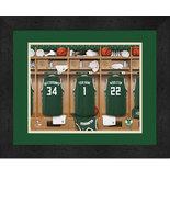 Personalized Milwaukee Bucks 12 x 16 Locker Room Framed Print - $63.95