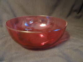 Cranberry Glass Serving Bowl - $19.99
