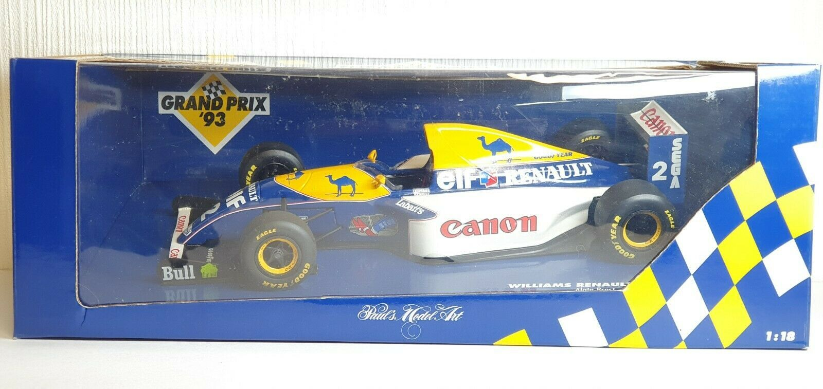 Primary image for 1/18 Minichamps F1 1993 WILLIAMS RENAULT FW15 #2 ALAIN PROST diecast car model