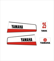 YAMAHA 25 A - Outboard decal set, reproduction - $27.00