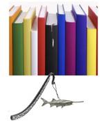Paddlefish Pewter Emblem Pattern bookmark for books organisers codeUS144D - $13.14