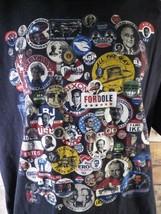 PRESIDENT Pin Button T-Shirt Size XL - $5.93