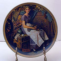 Dreaming in the Attic Collector Plate by Norman Rockwell - $29.99