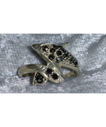 Dolphin marcasite  sterling silver ring sz 5.5 vintage 80s way cute aww ... - $60.00