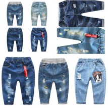 Jeans Infantil For Spring Fall Children's Denim Trousers Kids Dark Blue ... - $26.91+