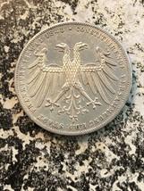 1848 Germania Frankfurt 2 Gulden Lotto #Jm628 Argento! Bellissimo Dettag... - $163.44