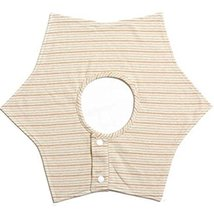 Hexagonal Sided Rotatable Baby Bibs Cotton Baby Bibs(Striped)