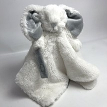 Blankets & Beyond Fuzzy Security Blanket - Off White and Grey Bunny Very... - $17.33