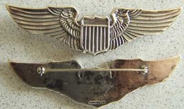 WWII Pilot Wing Juarez Coin Silver Pin Back      - $80.00