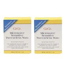 GiGi Sensitive Tweezeless Microwave Facial Hair Removal Wax, 1 oz x 2 pack image 11