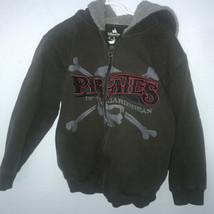 Disney Parks M Pirates Of The Caribb EAN Boys Green Sweat Shirt Fleece Hood A4 - $11.14