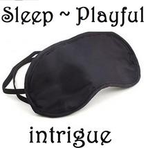 BLACK SATIN DOUBLE ELASTIC BLIND FOLD SLEEP PLAY EYE 2 ELASTIC STRAPS 1 ... - $4.99
