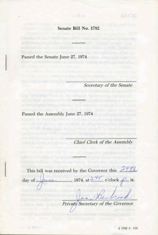 Ronald Reagan Autographed Signed 1974 California State Law Senate Document PSA
