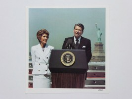 President Ronald Reagan Nancy Reagan 5.25 x 5.5 Photo Statue of Liberty ... - $29.65