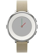 Pebble Time Round 14mm Smartwatch for Apple/Android Devices - Silver/Stone - $79.22