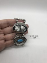 Vintage NY & Co Silvertone Faux Turquoise Watch  - $24.75