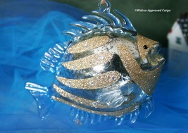 Pottery Barn Glass Butterfly Fish Ornament -NIB- Attract A Sea Of Admirers! - $24.95