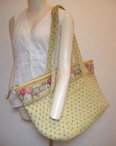 Vera Bradley Large Bag Elizabeth Weekender Yellow Floral Retired Pattern... - £51.22 GBP