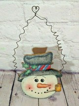 SNOWMAN WINTER SIGN Wall Art Door Hanger Plaque Seasonal Wood - $8.90
