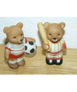 "HOMCO Sri Lanka #1408 Sports Bear Figurines 2 1/2"" - $6.86"
